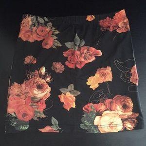 Floral Print Mini Skirt